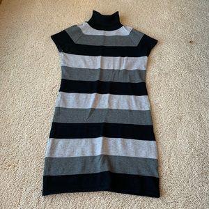 Target Block Sweater Turtleneck Dress